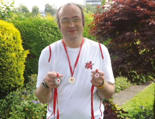 Bronze, Silver and Gold  for athlete David…